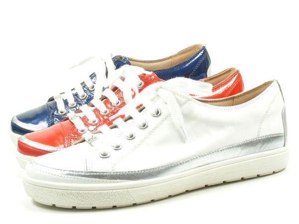 Caprice 9-23654-20 Schuhe Damen Halbschuhe Lack Schnürschuhe Sneaker