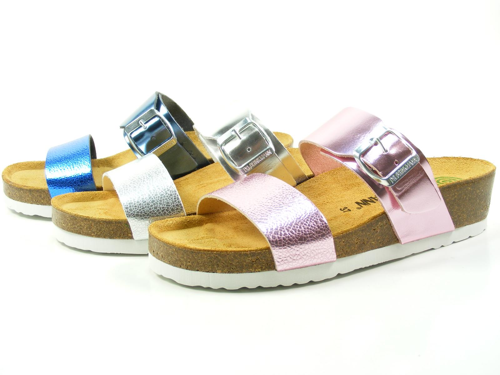 Dr. Brinkmann Schuhe 701144 Damen Metallic Keil Pantoletten Sandalen Clogs