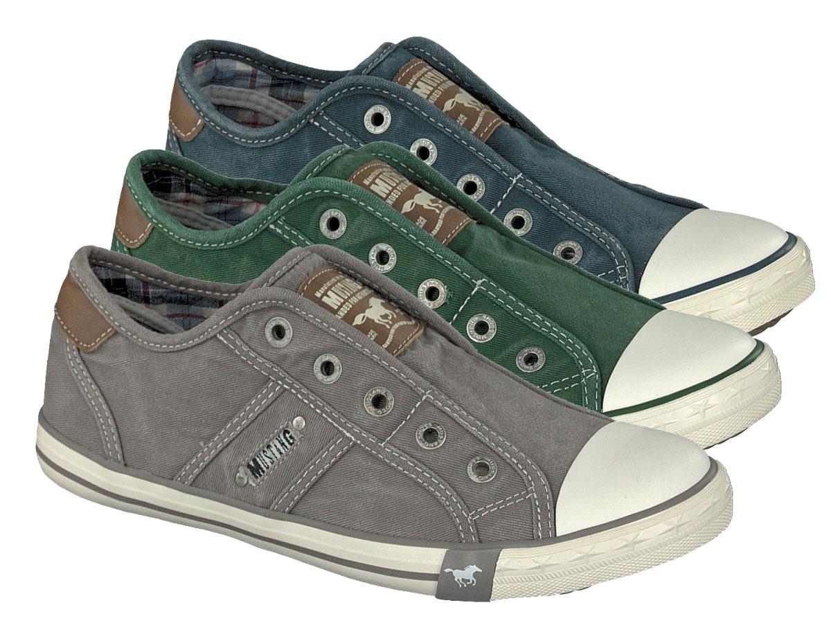 Details zu Mustang Slip on 1099 401 Schuhe Damen Slipper Sneaker Canvas