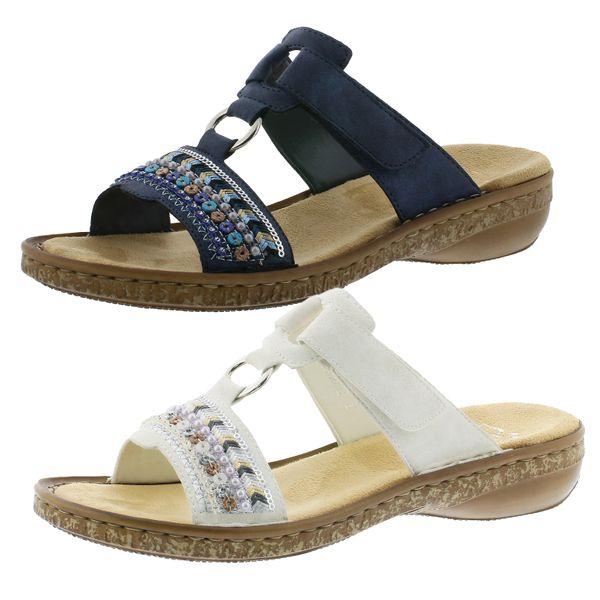 Rieker 628M6-14 Schuhe Damen Pantoletten Sandalen