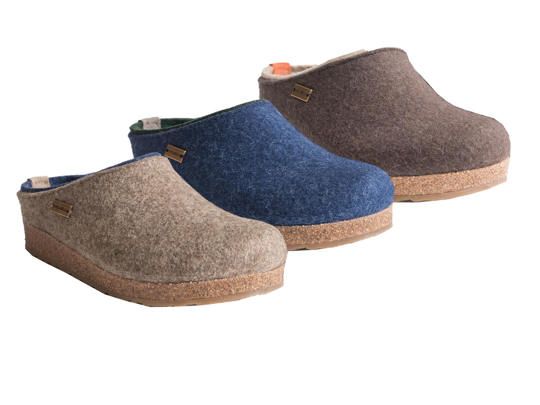 Haflinger Grizzly Kris 711056-0 Schuhe Damen Hausschuhe Pantoffeln Wolle