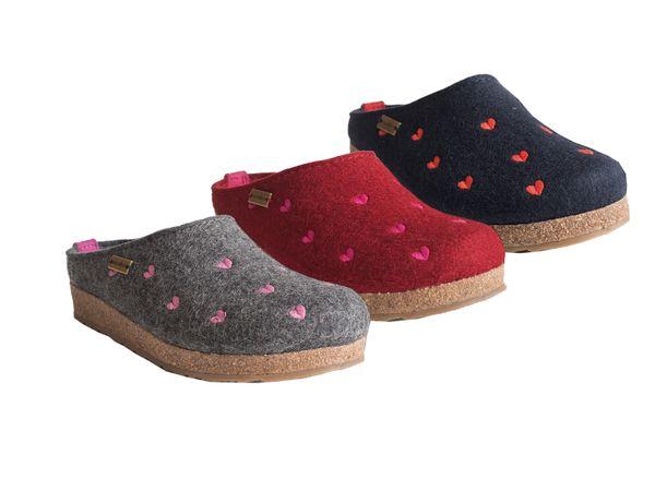 Haflinger Grizzly Cuoicino 741031 Schuhe Damen Hausschuhe Pantoffeln Wolle