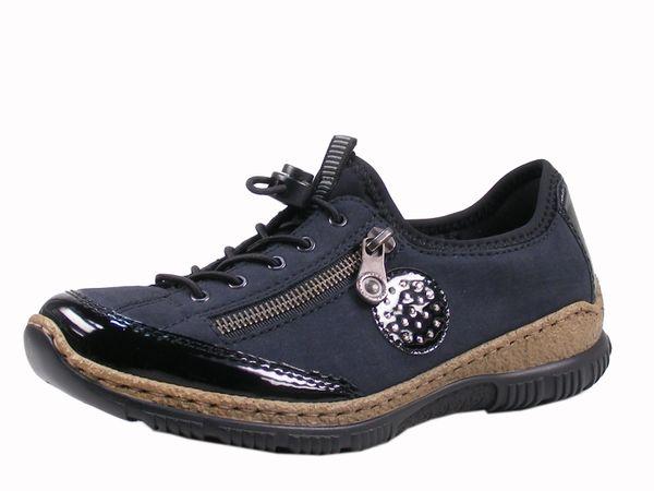 Rieker N3268-01 Schuhe Damen Halbschuhe Sneaker Schnürschuh