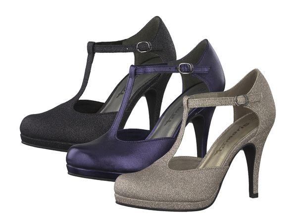 Tamaris 1-24421-31 Damen Schuhe Pumps T-Steg Plateau