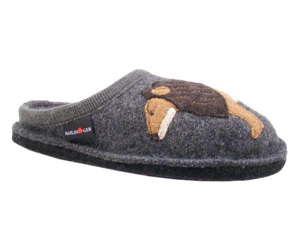 Haflinger 313070-3 AR Lion Schuhe Damen Hausschuhe Pantoffeln Wolle