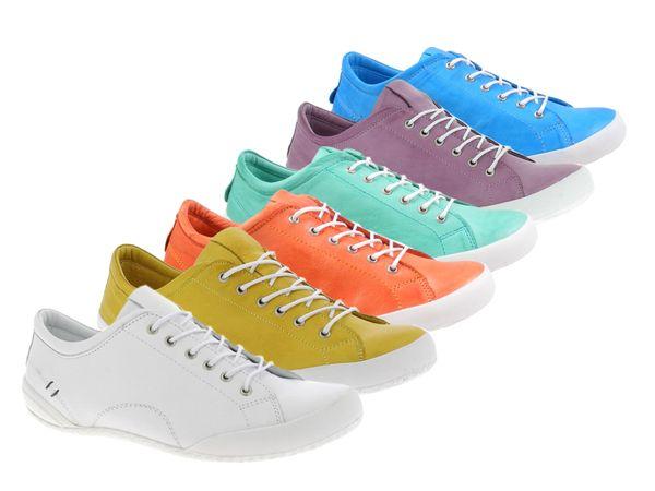 Andrea Conti 0340559 Damen Schnürer Leder Halbschuhe Sneaker