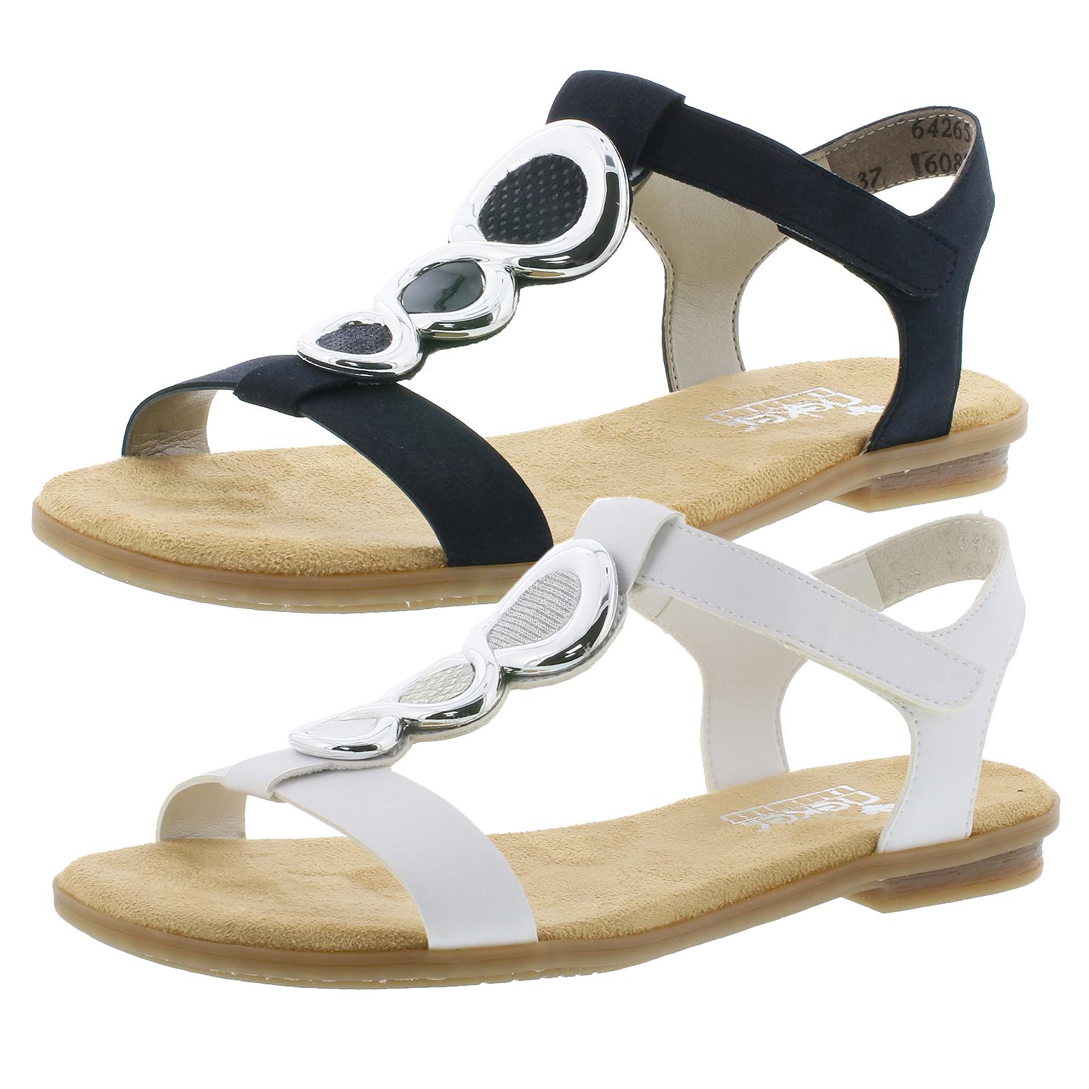 Rieker 64265 Schuhe Damen Sandaletten Sandalen TBJg2
