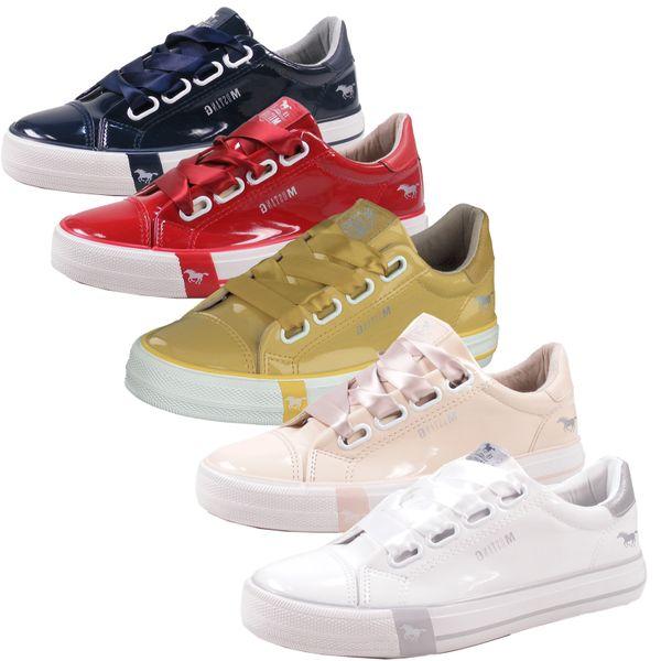 Mustang 1313-301 Schuhe Damen Sneaker Schnürschuhe Lack