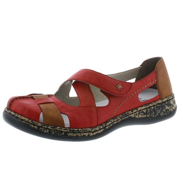Rieker 46367-33 Schuhe Damen Halbschuhe Ballerinas Leder