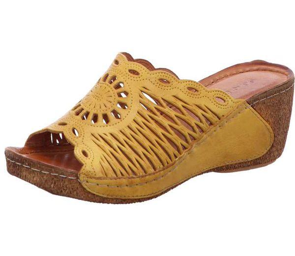 Gemini 032258-02 Schuhe Damen Pantoletten Clogs gelb