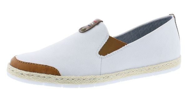 Rieker M2654-24 Damen Halbschuhe Sneaker Slipper weiß