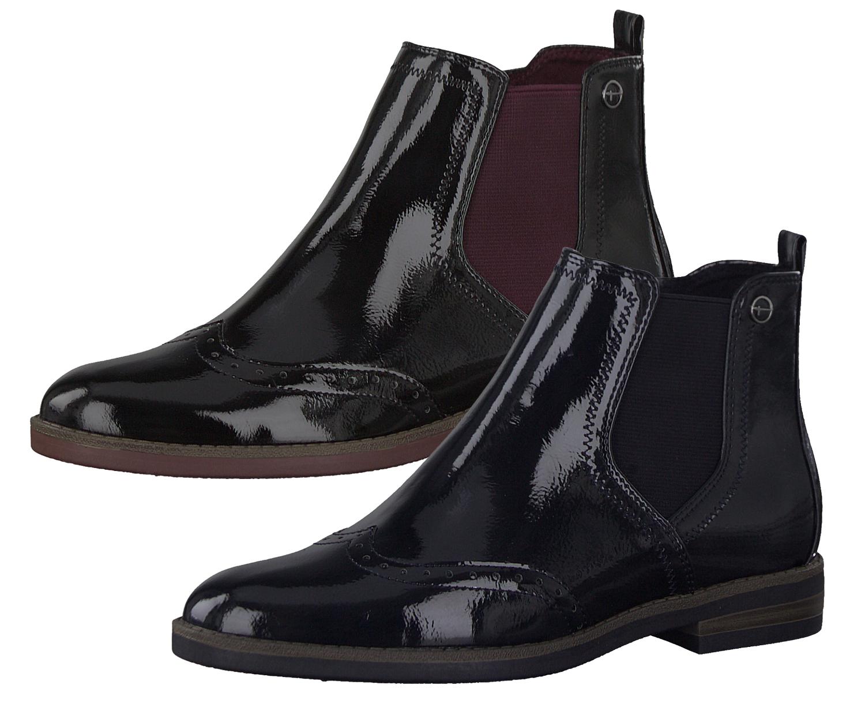 on sale 793e5 1ed63 Tamaris Damen 1-25313-23 Stiefeletten Chelsea Boots Lack