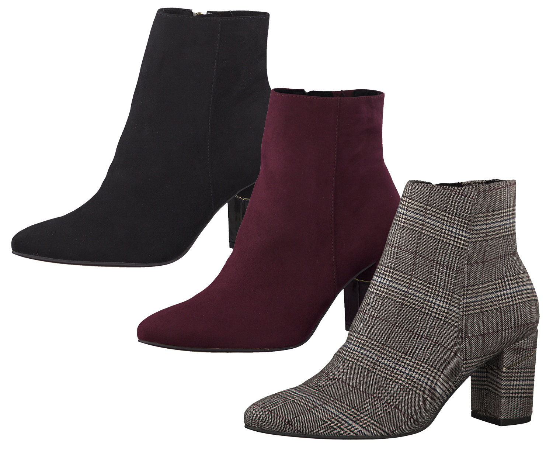 wholesale dealer d8b73 f54be Tamaris 1-25330-33 Damen Schuhe Stiefeletten Ankle Boots Blockabsatz