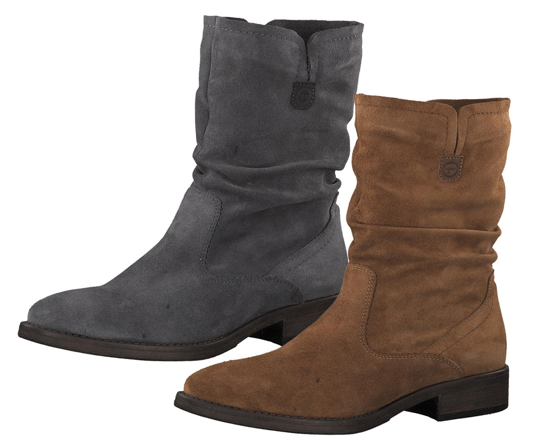 finest selection ca6d9 c01ee Tamaris 1-25480-23 Damen Stiefel Stiefeletten Leder
