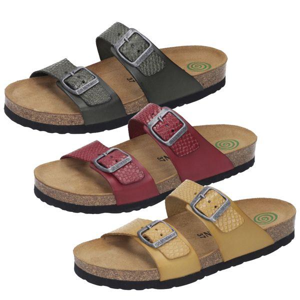 Dr. Brinkmann 701437 Damen Schuhe Clogs Pantoletten Leder
