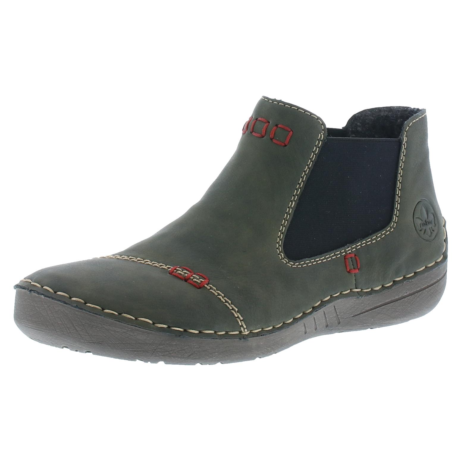 reputable site 14152 4b923 Details zu Rieker 52590 Schuhe Damen Stiefeletten Chelsea Boots Warmfutter