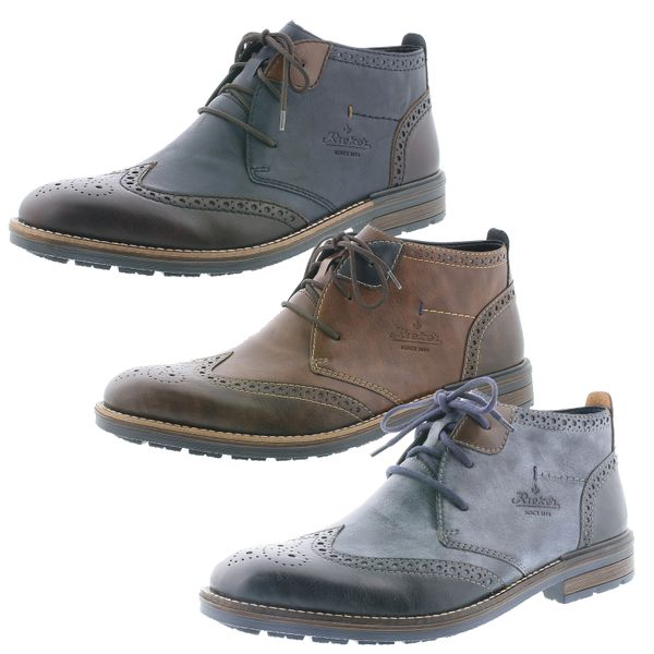 Rieker B1343 Herren Schnürschuhe Stiefeletten Desert Boots