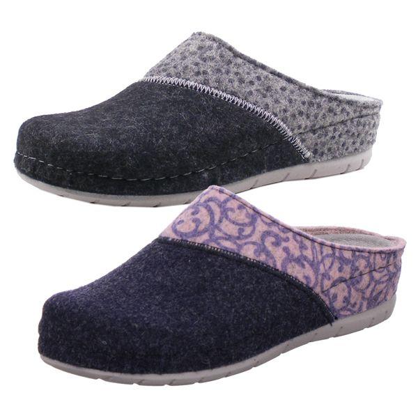 Rohde 6032 Rodigo-40 Damen Hausschuhe Pantoffeln Softfilz