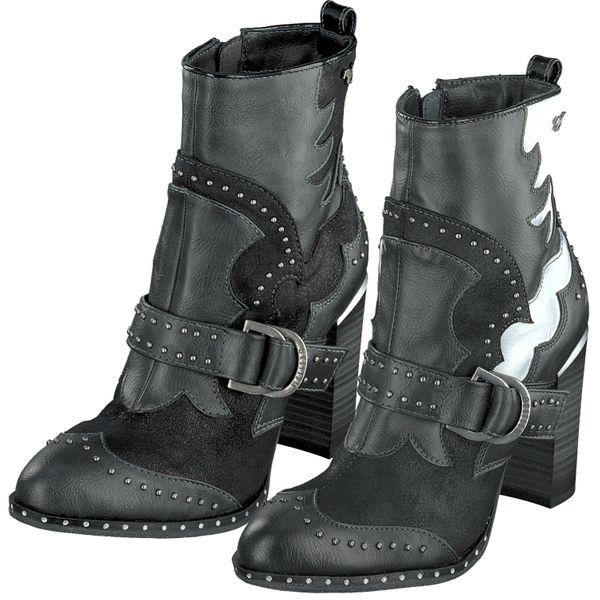 Mustang 1329-502 Damen Stiefeletten Ankle Boots Blockabsatz