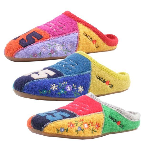 Haflinger 485011 Everest Hamlet Hausschuhe Damen Wolle Pantoffeln