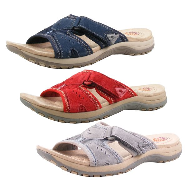 Earth Spirit 38011-20 Damen Clogs Pantoletten Leder