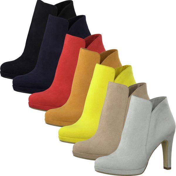 Tamaris 1-25316-24 Damen Schuhe Stiefeletten Plateau High-Heel