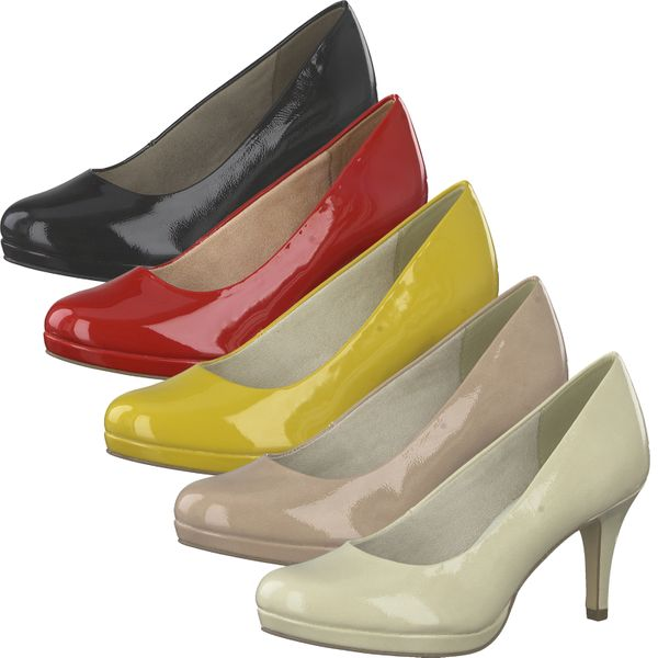 Tamaris 1-22444-24 Damen Pumps Plateau Lackoptik