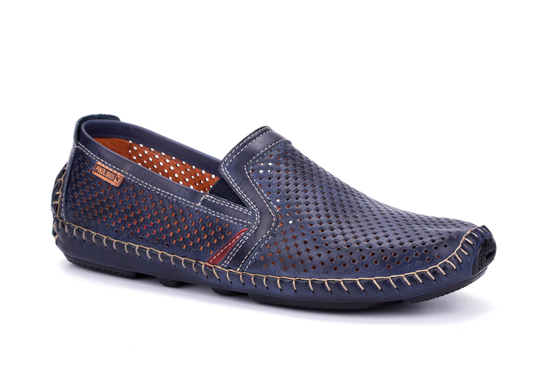 Pikolinos 09Z 3100 Jerez Herren Halbschuhe Slipper Leder , Schuhgröße:43 EU, Farbe:Grau