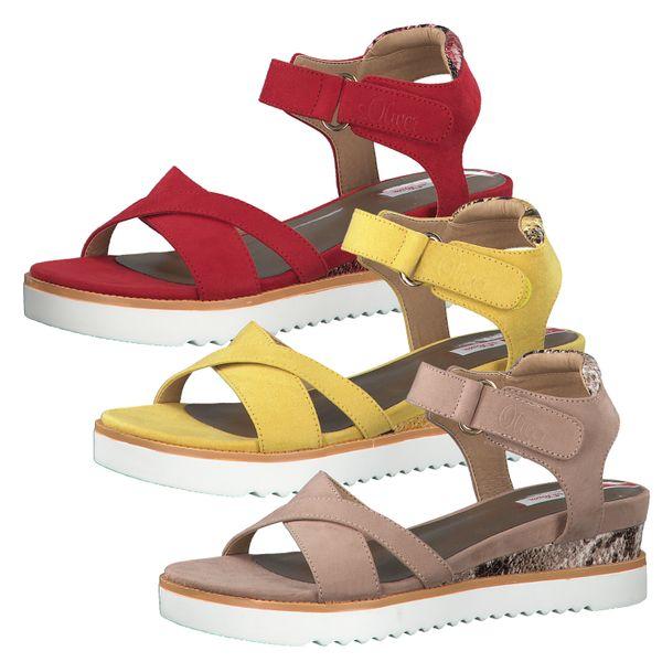 s.Oliver 5-28700-34 Damen Sandalen Keilabsatz Sandaletten