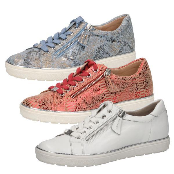 Caprice 9-23606-24 Schuhe Damen Sneaker Halbschuhe Leder Schnürschuh