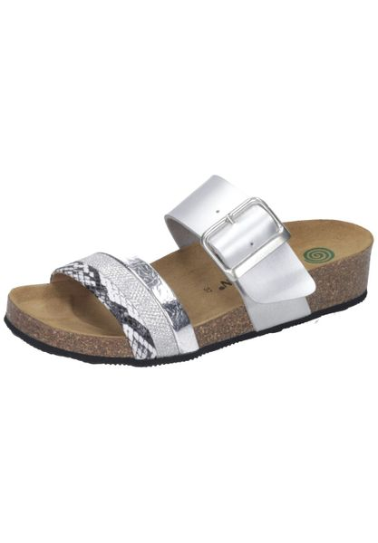 Dr. Brinkmann 701509 Damen Pantoletten Clogs Metallic-Look