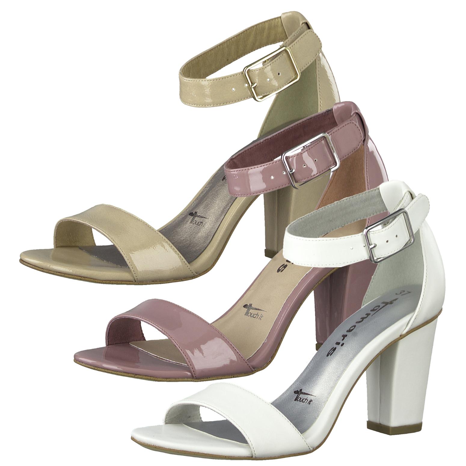 Tamaris 1-28018-22 Sandaletten Fesselriemen Blockabsatz
