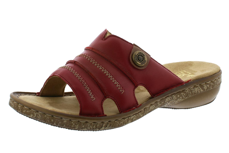38 Rieker Pantoffeln Leder Damen Schuhe