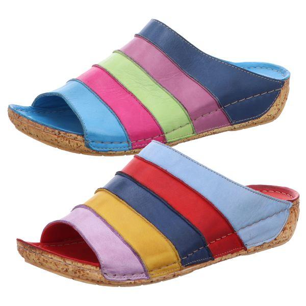 Gemini 032084-02 Damen Schuhe Pantoletten Clogs Leder