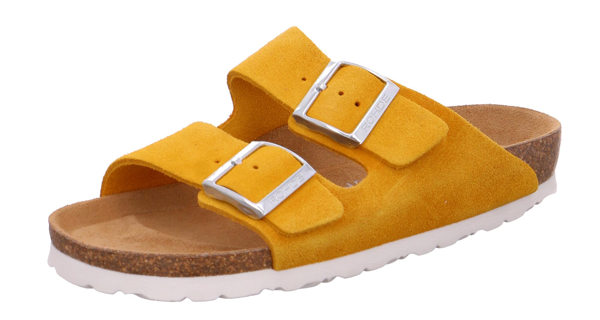 Rohde 5590 Alba Damen Schuhe Pantoletten Clogs Leder