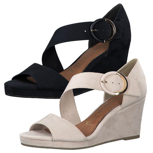 Tamaris 1-28072-34 Damen Sandalen Keilabsatz Sandaletten