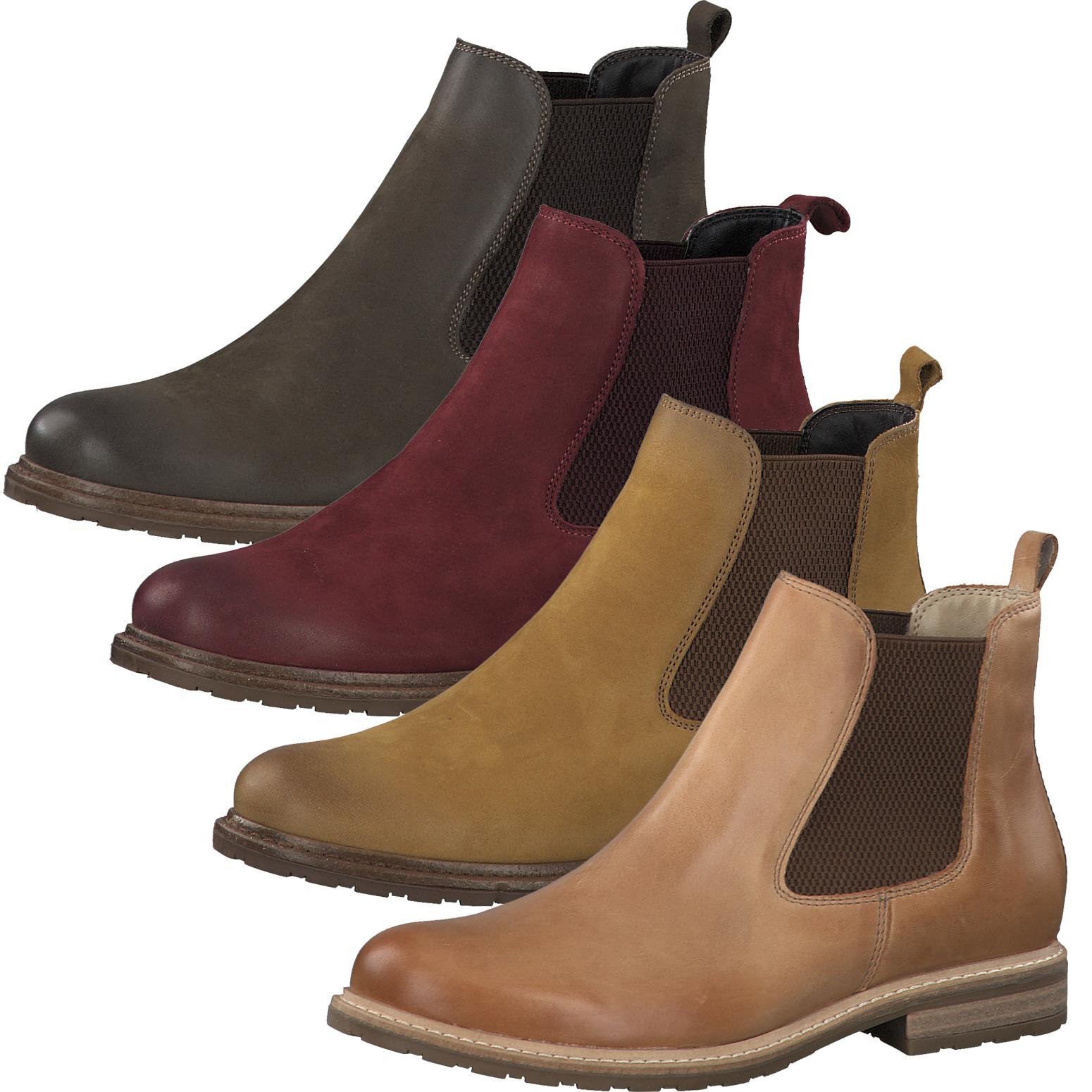Tamaris Damen Stiefeletten Leder Chelsea Boots 1 25056 25