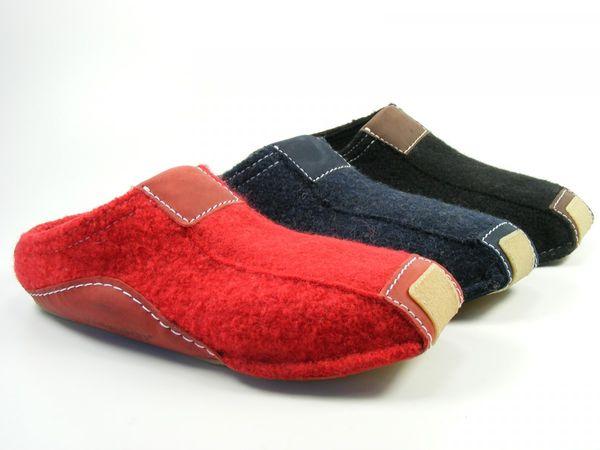 Haflinger Schuhe Damen Herren Hausschuhe Pantoffeln Wolle Pocahontas 411001
