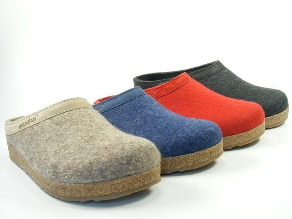 Haflinger Schuhe Damen Hausschuhe Pantoffeln Wolle Grizzly Torben 713001