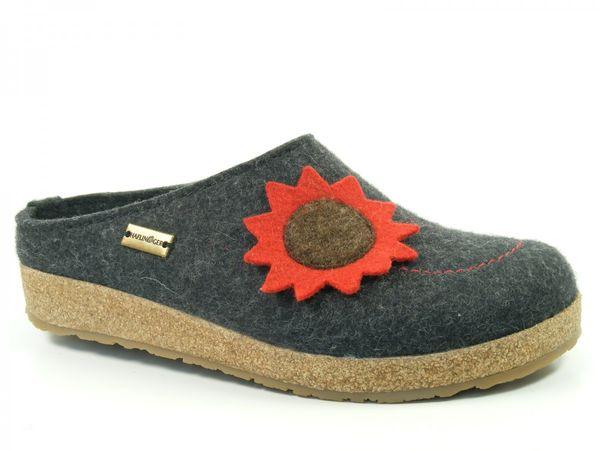 Haflinger Schuhe Damen Hausschuhe Pantoffeln Wollfilz Grizzly Nelly 731048