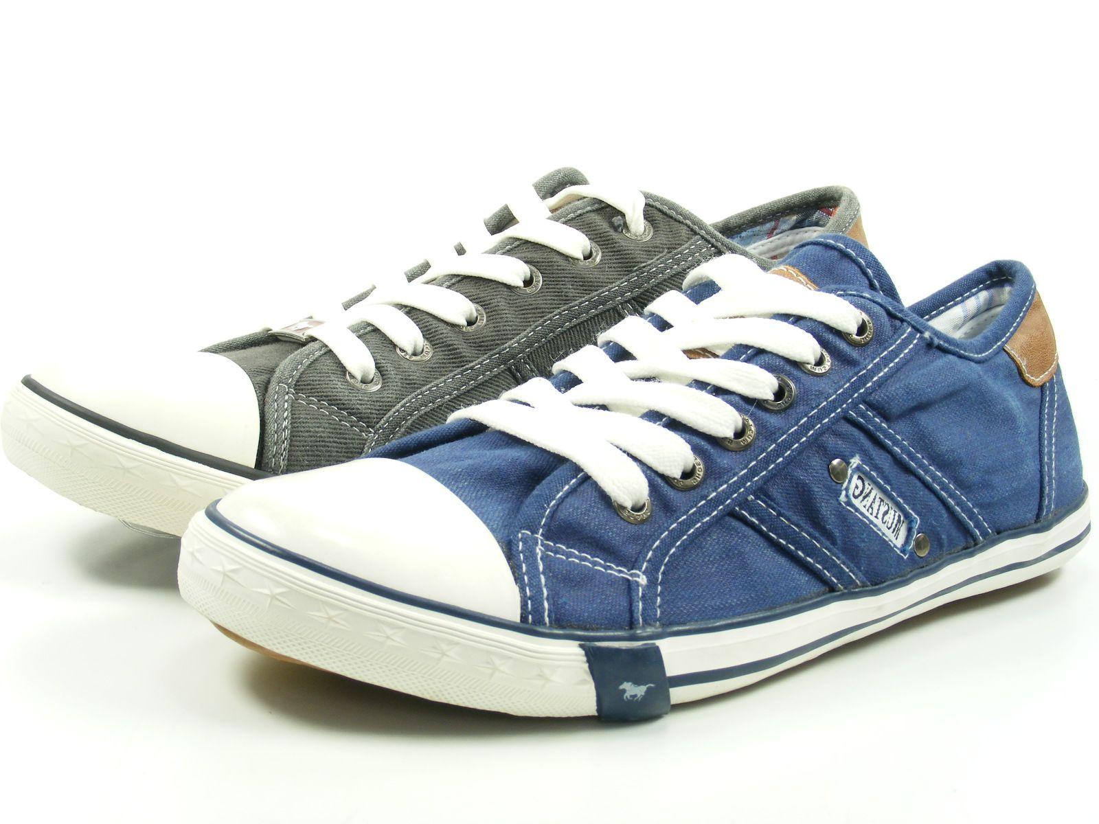 Mustang 4058-401 Schuhe Herren Schnürschuhe Sneaker Canvas   eBay c6bb960d39