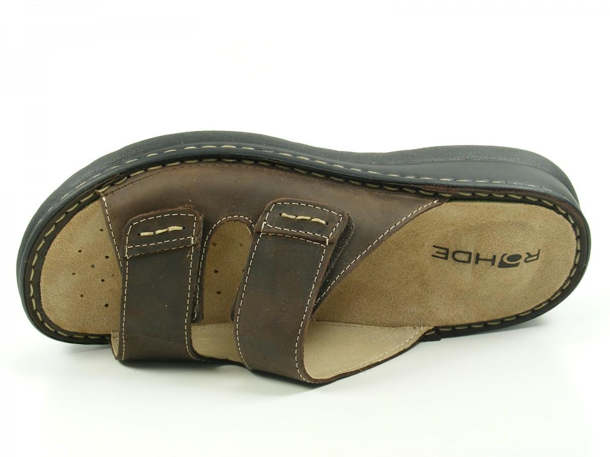 Rohde 5880 Augsburg Schuhe Herren Hausschuhe Pantoletten Leder