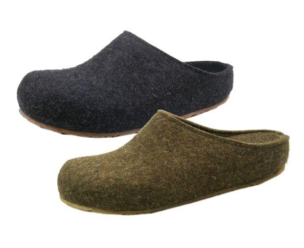 Haflinger 711033-0-552 Grizzly Michl Schuhe Damen Herren Hausschuhe Pantoffeln Wolle