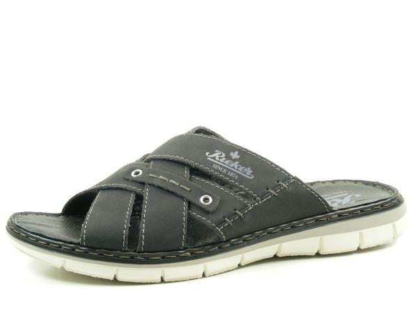 Rieker 25199-00 Schuhe Herren Sandalen Pantoletten Clogs