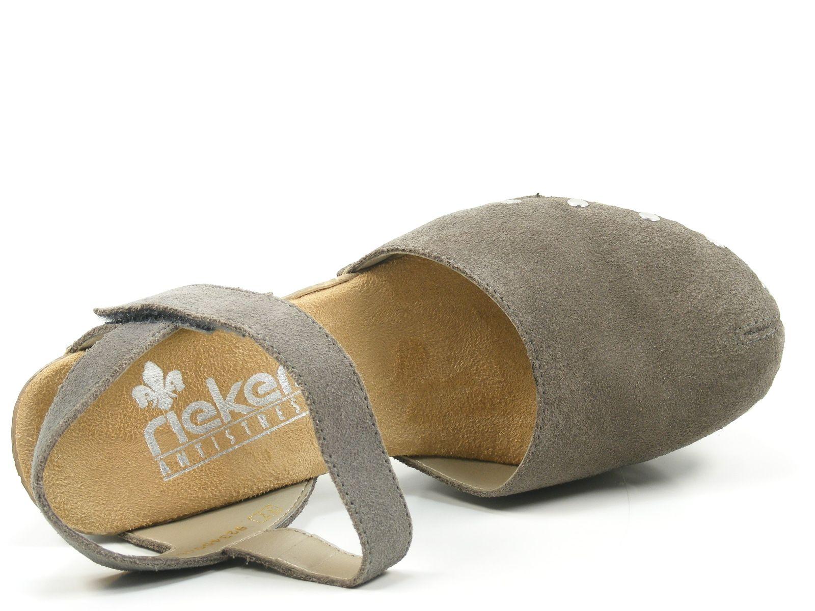 Rieker 66761 25 Schuhe Damen Plateau Sandalen Clogs | eBay 8fX7m