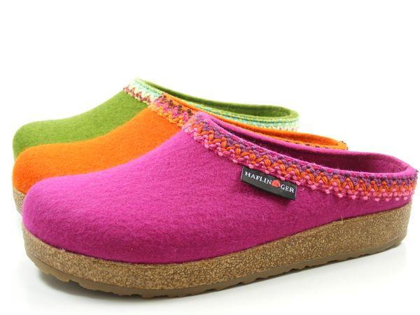 Haflinger Grizzly Francisco 711053 Schuhe Damen Hausschuhe Pantoffeln Wolle